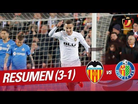 Resumen de Valencia CF vs Getafe CF (3-1)