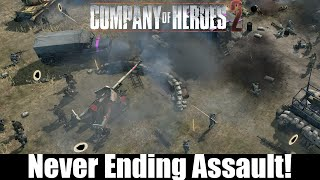 Company Of Heroes 2 : Multiplayer Gameplay - Never Ending Assault!