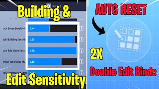 New Double Edit Binds, Building & Editing Sensitivities, Aim Acceleration | Fortnite Mobile Update