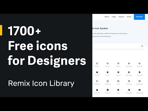 1700+ Free Icon Library For Designers In SVG And Web Font Format