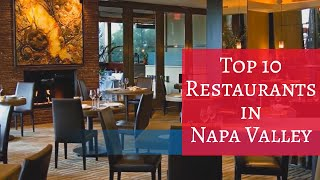 Top 10 Restaurants in Napa Valley - Travel Channel