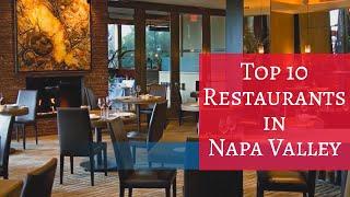Top 10 Restaurants in Napa Valley - Travel Channel