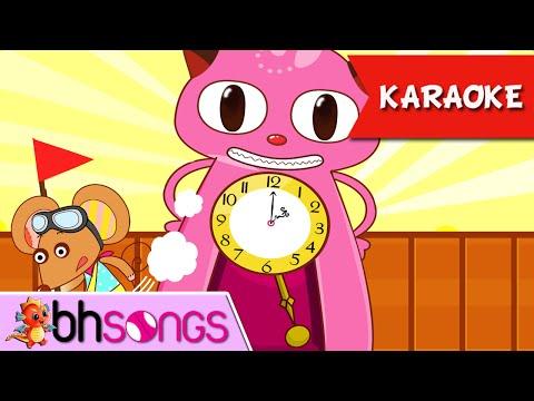 Karaoke For Kids | Hickory Dickory Dock Karaoke | Nursery Rhymes Songs Ultra HD 4K