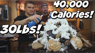 40,000 CALORIE ICE CREAM SUNDAE (World's Biggest!) | 30lbs! CRAZY FOOD CHALLENGE