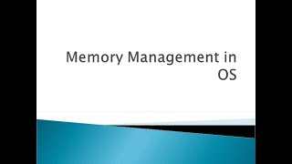 Memory Management Unit || Swapping || Contiguous Allocation || Fragmentation || Segmentation Tamil
