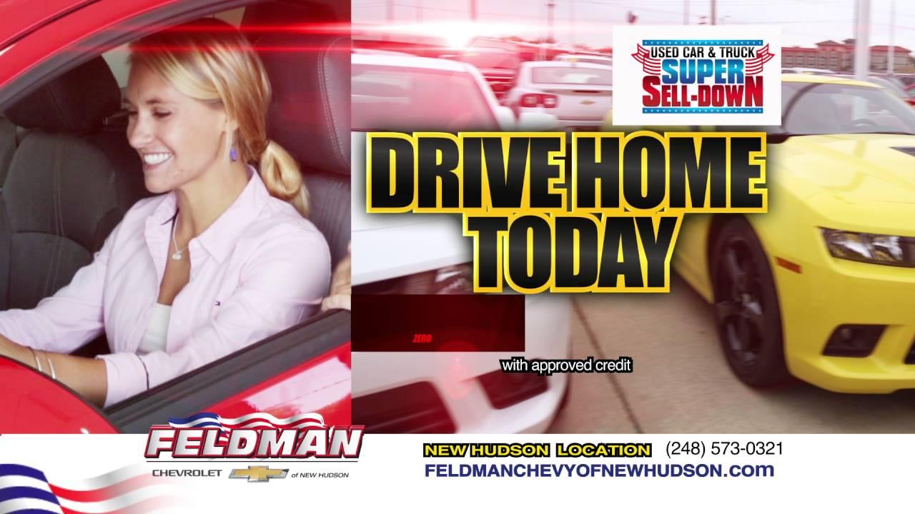 feldman chevy new hudson used car truck super sell down 5 2016 youtube. Black Bedroom Furniture Sets. Home Design Ideas