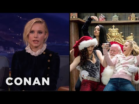 Kristen Bell Loves Making Physical Contact With Mila Kunis & Kathryn Hahn   CONAN on TBS