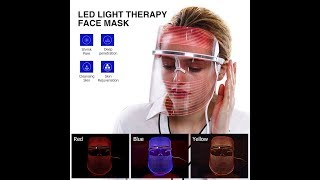 3 Color LED Light Therapy Face Mask