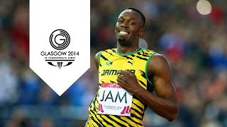 Usain Bolt 100m slow motion - 1000 frames per second | Glasgow Super SlowMo