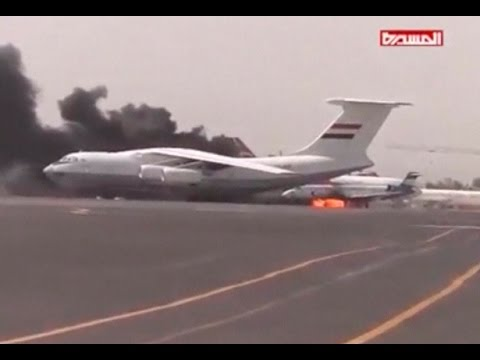 Saudi-led planes bomb Sanaa airport   Almasirah TV, Reuters
