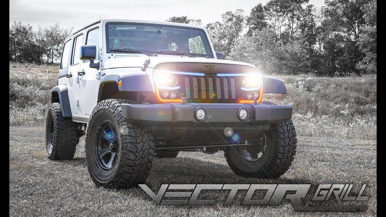 Oracle Lighting Vector Series Grill For The Jeep Wrangler Jk