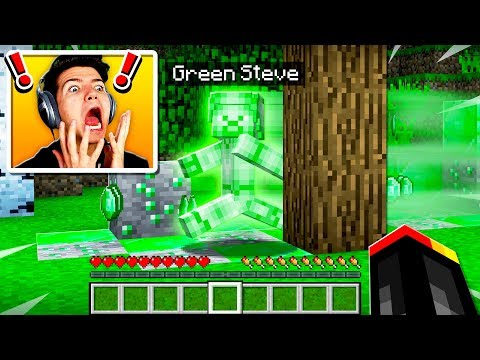 I FOUND GREEN STEVE IN MINECRAFT POCKET EDITION! thumbnail
