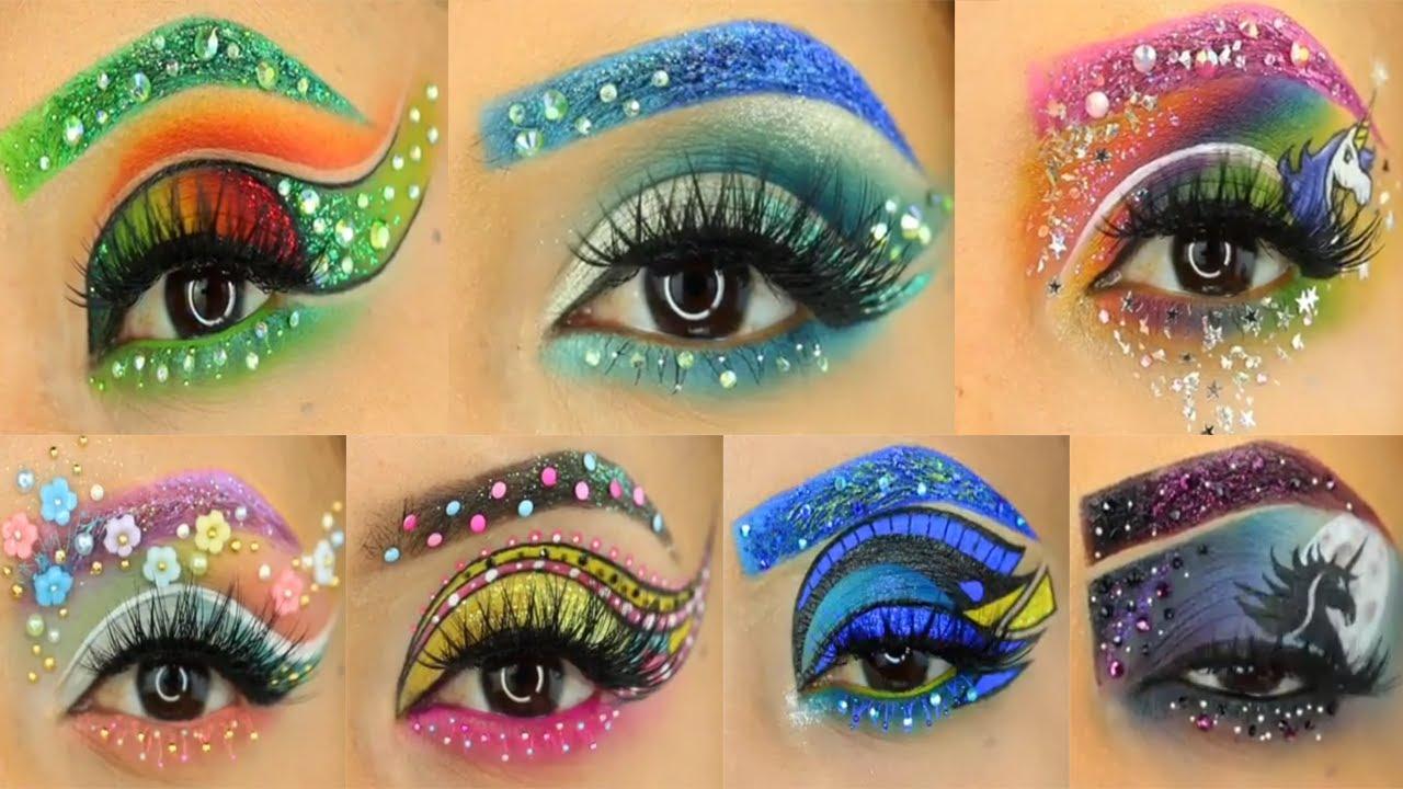 amazing eye makeup tutorial compilation 2017 ��������� youtube
