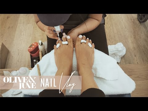 COME WITH ME to get a PEDICURE - Olive&June (famous LA nail salon) | INMYSEAMS