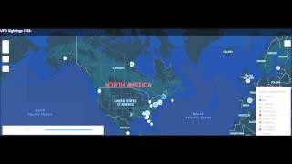 Mapa de ovni del Mundo