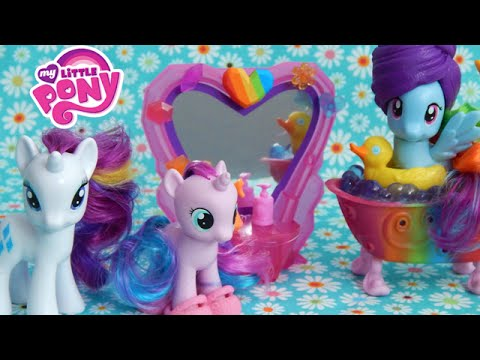 MLP Spa and Pony Set Kohls Exclusive Rarity Star Dreams Rainbow Dash