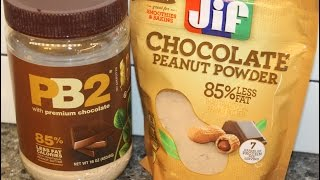 Jif Chocolate Vs Pb2 Chocolate: Peanut Butter Powder Blind Taste Test