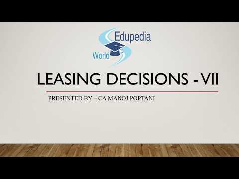 Strategic Financial Management | Leasing Decision | CA Final Questions (asked)  | Part 7