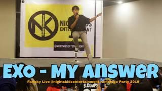 MY ANSWER - EXO (FARISKY LIVE @MARVELL CITY SURABAYA)