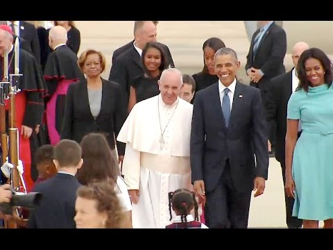 President Obama, the First Lady, Vice President Biden & Dr. Biden Greet His Holiness Pope Francis