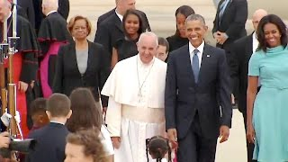 President Obama, the First Lady, Vice President Biden \u0026 Dr. Biden Greet His Holiness Pope Francis