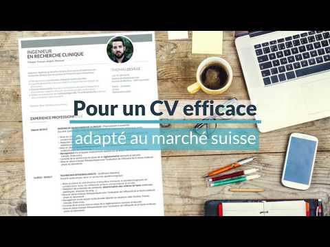 """Présentation du modèle de CV pour la Suisse  """"Elegant"""""""