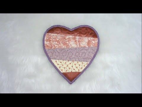 In The Hoop Scrappy Heart Design by Kreative Kiwi