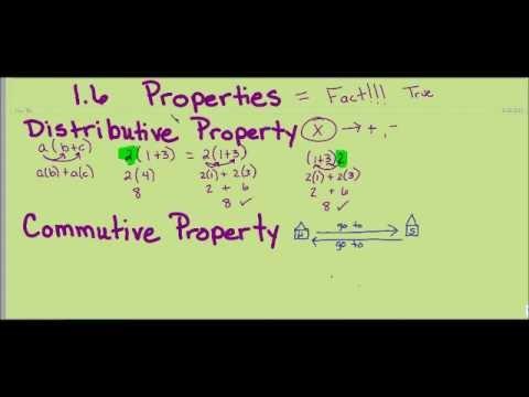 6th Grade Math: 1.6 Properties