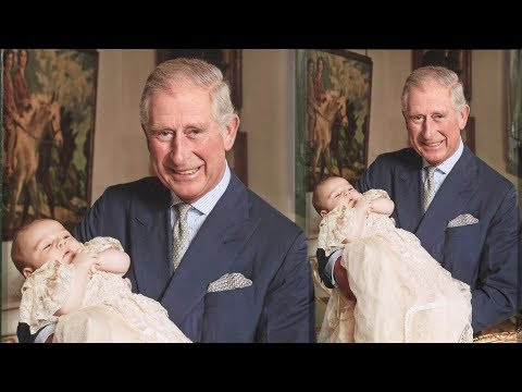 It's so sweet! Prince George & Prince Charles in never-before-seen photo on his christening day
