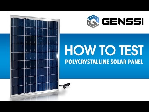 How To Test A Solar Panel Voltage And Current Youtube