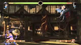 Mortal Kombat 9 - Kitana обучение + комбо