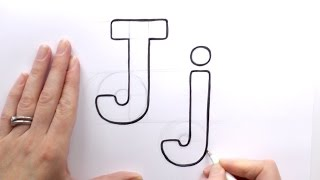 How to Draw a Cartoon Letter J and j