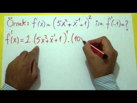 Türev 2 (Çarpımın Bölümün Türevi) Şenol Hoca Matematik