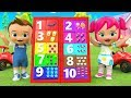 Learning Colors & Numbers for Children with Baby Boy & Girl Fun Play Numbers Board Games 3D Kids Edu