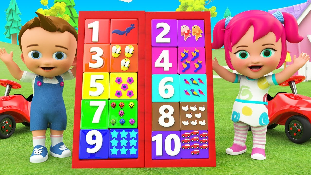 Numbers Board Game Toy 3d Learning Colors Numbers For