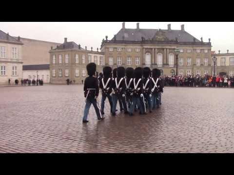 Changing of the Guard, Amalienborg Palace, Copenhagen. Part 1 - #changingoftheguard
