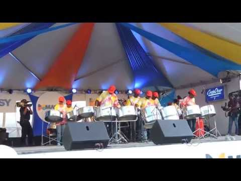 "Reddy Panners Steelband playing Live at ""Pan Pun de Sand"" 2015,  Brandon's Beach Barbados ...Part 1"