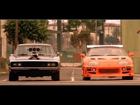 Charger Vs Challenger >> Fast and Furious 1 Final Scene Charger vs Supra HD - YouTube