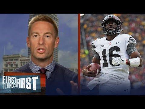 Joel Klatt previews Buckeyes vs Badgers, Alabama's rankings and the Sooners | FIRST THINGS FIRST
