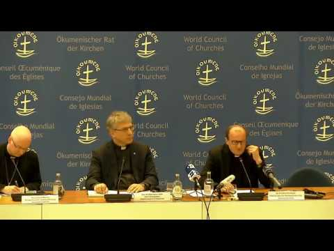 Live: Press conference on programme of Pope Francis' Ecumenical Pilgrimage to the WCC