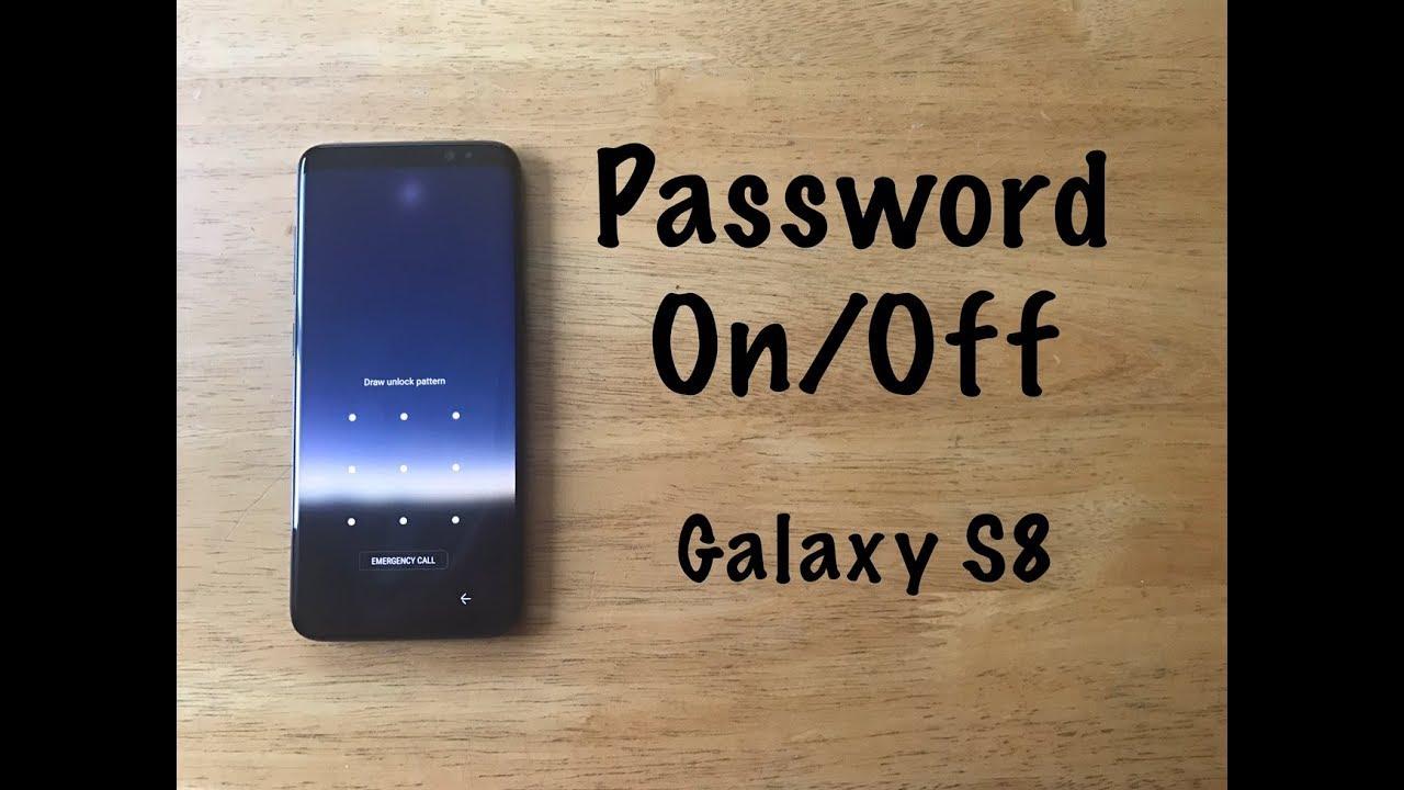 how to unlock samsung s8 plus password