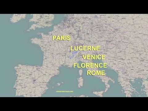 Europe tour route