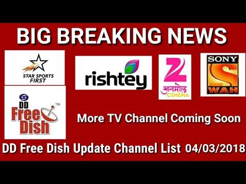 DD FreeDish Gsat15 at 93°E Update Channels list 4 March 2018