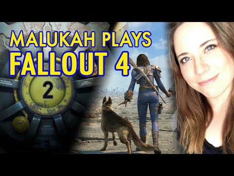 Malukah Plays Fallout 4 - Ep. 2: I got a new dog!
