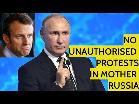 """Putin On Anti-Macron """"Yellow Vest"""" Protests: We Don't Want Moscow To Become The Next Paris"""
