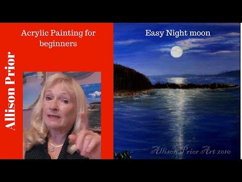 How To Paint A Night Scene With Acrylic