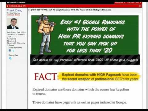 Expired Domain Gold - Get #1 Google Rankings With The Power of High PR Expired Domains