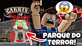 ROBLOX - PARQUE DO TERROR OBBY DO PALHAÇO DO MAL! PETER TOYS