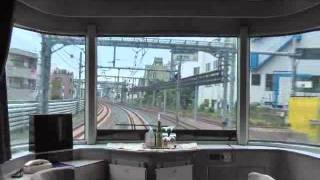 寝台特急カシオペア 1号車1番展望スイートでの上野⇒大宮車窓です.