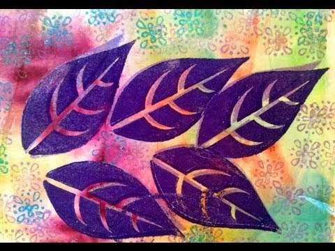 Textile Design Block Printing - Textile Art Leaf Design